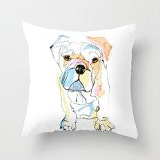 Bulldog Colour Throw Pillow