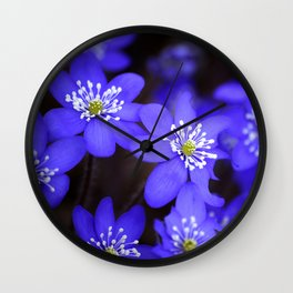 First Spring Flowers in Forest Wall Clock