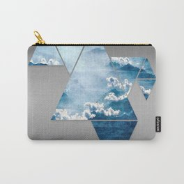 Fragmented Clouds Carry-All Pouch