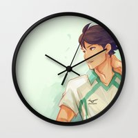 haikyuu Wall Clocks featuring Oikawa by viria
