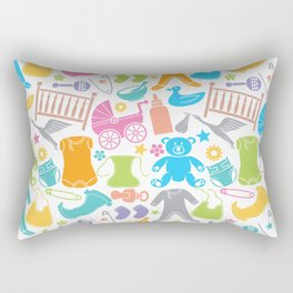 seamless pattern with baby icons Rectangular Pillow