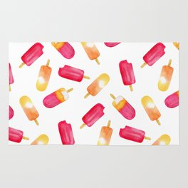 watercolor popsicle pattern Rug