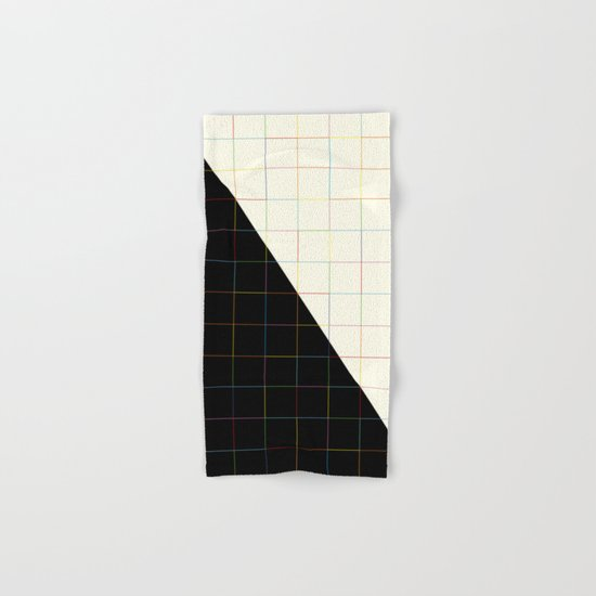 Colorful Lines (black and white version) Hand & Bath Towel