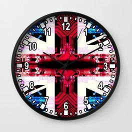 circuit board United Kingdom (flag) Wall Clock