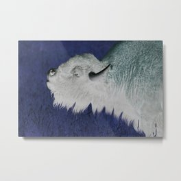 Tatanka, White Buffalo Metal Print