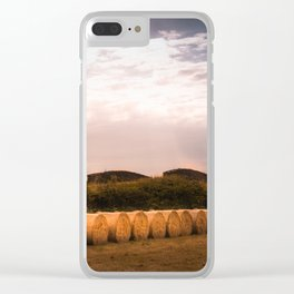 Round Hay Bales Clear iPhone Case