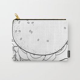 Fast food burger lineart Carry-All Pouch