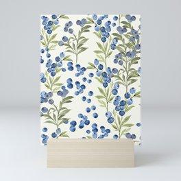 'Wild Blueberry' - Botanical Pattern Mini Art Print