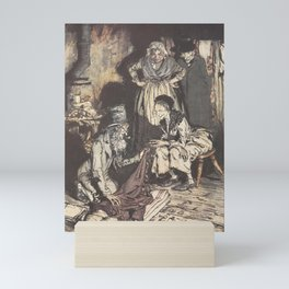 "Arthur Rackham - Dickens' Christmas Carol (1915): ""What do you call this, bed-curtains?"" Mini Art Print"