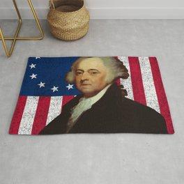 John Adams and The American Flag Rug