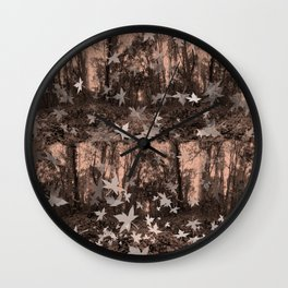 Monohrome woods  Wall Clock