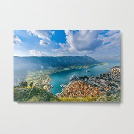 The Bay of Kotor Metal Print