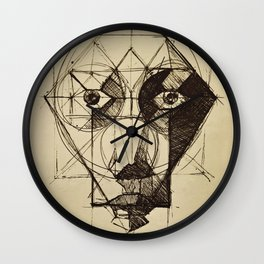 Face Shapes Wall Clock