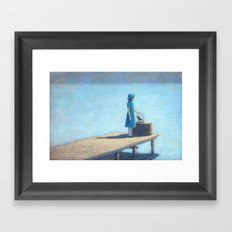Leaving with my friend Framed Art Print