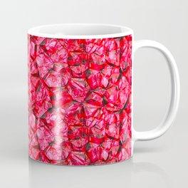 Red pink gemstone wall Coffee Mug