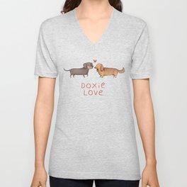 Doxie Love Unisex V-Neck
