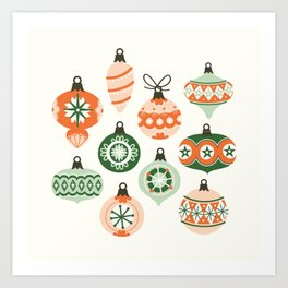 Vintage Ornaments Art Print