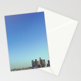Skyline. Downtown Los Angeles, California Stationery Cards