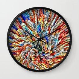 Colorful Block Array Wall Clock