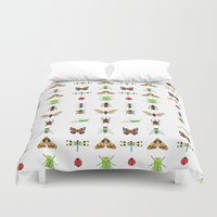 insects Duvet Covers featuring insects by Alysha Dawn