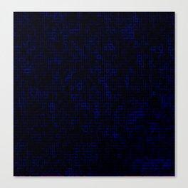 Dark Blue Pixels Canvas Print