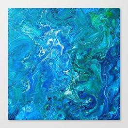 Elegant Crazy Lace Agate 2 - Blue Aqua Canvas Print