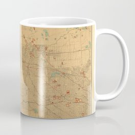 Canadian Mounted Police Map Coffee Mug