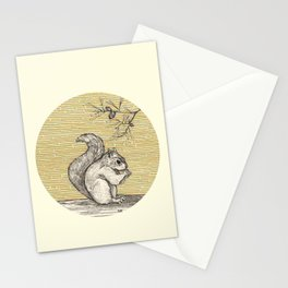 A squirrel Stationery Cards