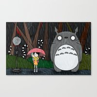 tim burton Canvas Prints featuring Tim Burton Totoro by Grace Isabel