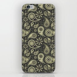 Brown and Tan Paisley Design Pattern Background iPhone Skin