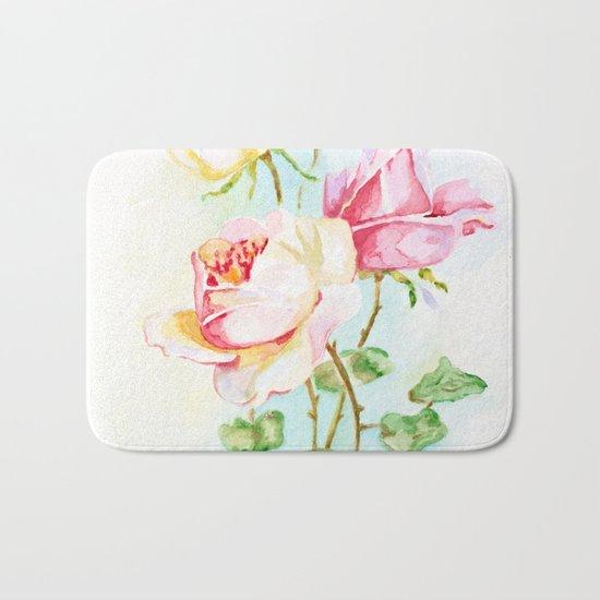 Three roses Bath Mat