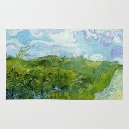 Van Gogh Green Wheat Fields Auvers 1890 Rug