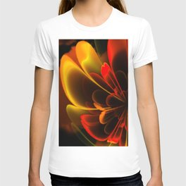 Stylized Half Flower Red T-shirt