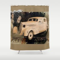 gangster Shower Curtains featuring A Gangster Love Story by D'Young Art