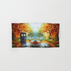 starry Autumn blue phone box Digital Art iPhone 4 4s 5 5c 6, pillow case, mugs and tshirt Hand & Bath Towel