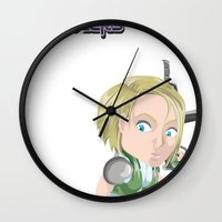 valentina Wall Clocks featuring Lola Valentina placing mines by PocketBrawlers
