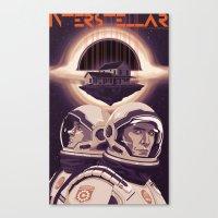 interstellar Canvas Prints featuring INTERSTELLAR by Mike Wrobel