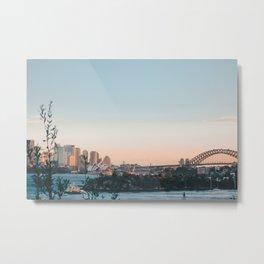 Sunset Over Sydney Harbour Metal Print