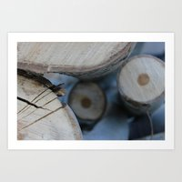wooden Art Prints featuring Wooden by Tania Olby