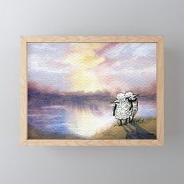 Companion Sheep Framed Mini Art Print
