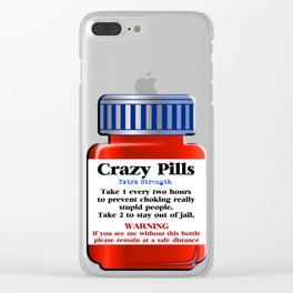 Crazy Pills Clear iPhone Case