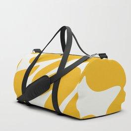 Yellow brushstrokes scribble Duffle Bag