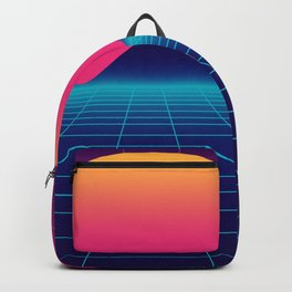 Throwback Sunset Synthwave Backpack