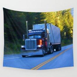 The Revelstoke Run Cargo Truck Wall Tapestry