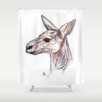 kangaroo Shower Curtains featuring Kangaroo by Ursula Rodgers