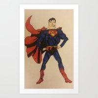 super superman Art Print