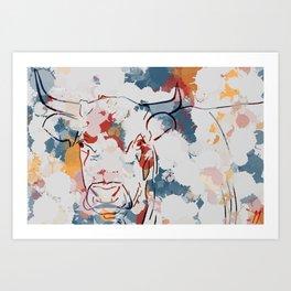 Grosse vache Art Print