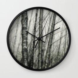Alders i - Impressionistic Tree Trunks Wall Clock