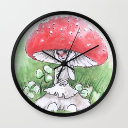 Empire of Mushrooms: Amanita Muscaria Wall Clock