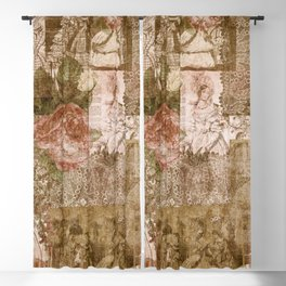 Vintage & Shabby Chic - Victorian ladies pattern Blackout Curtain